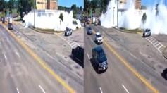 بالفيديو.. رغوة بيضاء ضخمة تجتاح محطة وقود