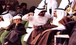 صورة مميزة للأمير بدر مع الملك فهد في سباق الهجن بالجنادرية
