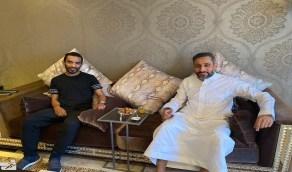سامي الجابر يزور خالد الزيلعي ليطمئن على صحته