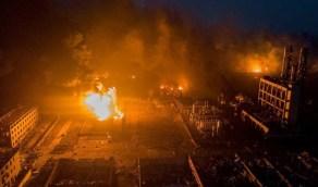 انفجار قوي داخل مصنع للألعاب النارية