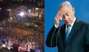 """بالفيديو..تظاهرات ضد نتنياهو وتشبيه لحكومته بـ """" حكومة الخنازير """""""
