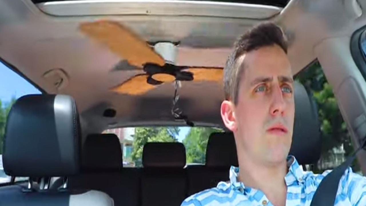 شاهد..وضع مروحة سقف في سيارة رنج روفر ايفوك
