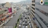 """بالفيديو.. """"الدورانات"""" تفك زحام شوارع الباحة"""