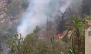 بالفيديو.. الدفاع المدني يباشر حريق في جبل ضرم