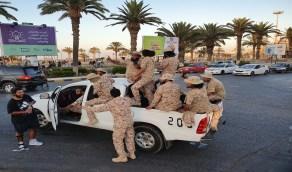 شاهد.. مرتزقة سوريون يرتدون ملابس الشرطة الليبية