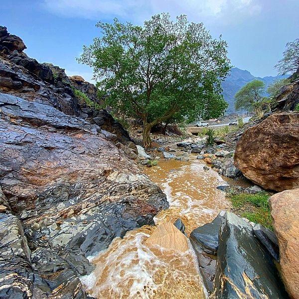 منظر خلاب للأودية إثر انهمار المطر بعسير
