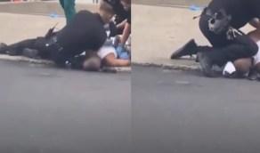 بالفيديو.. شرطي أمريكي يضغط على رقبة شاب من أصل إفريقي مجددا