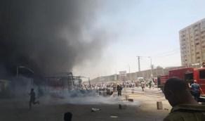 بالصور.. مشاهد مؤلمة لحريق هائل في أحد الأسواق