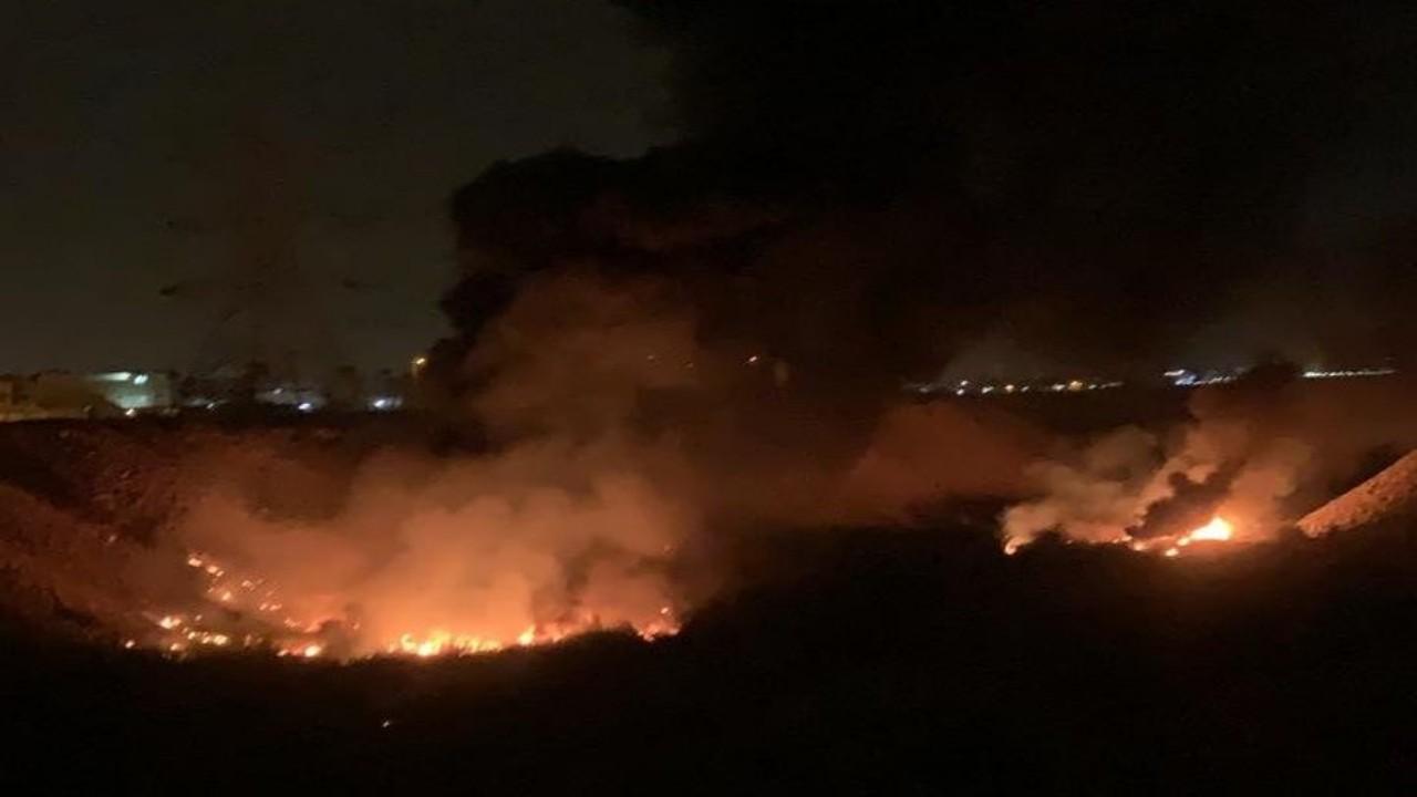 اندلاع حريق في وادي نمار بالرياض صحيفة صدى الالكترونية