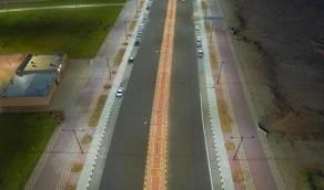 بالصور.. قرب الإنتهاء من مشروع المدخل الشمالي لمدينة سكاكا