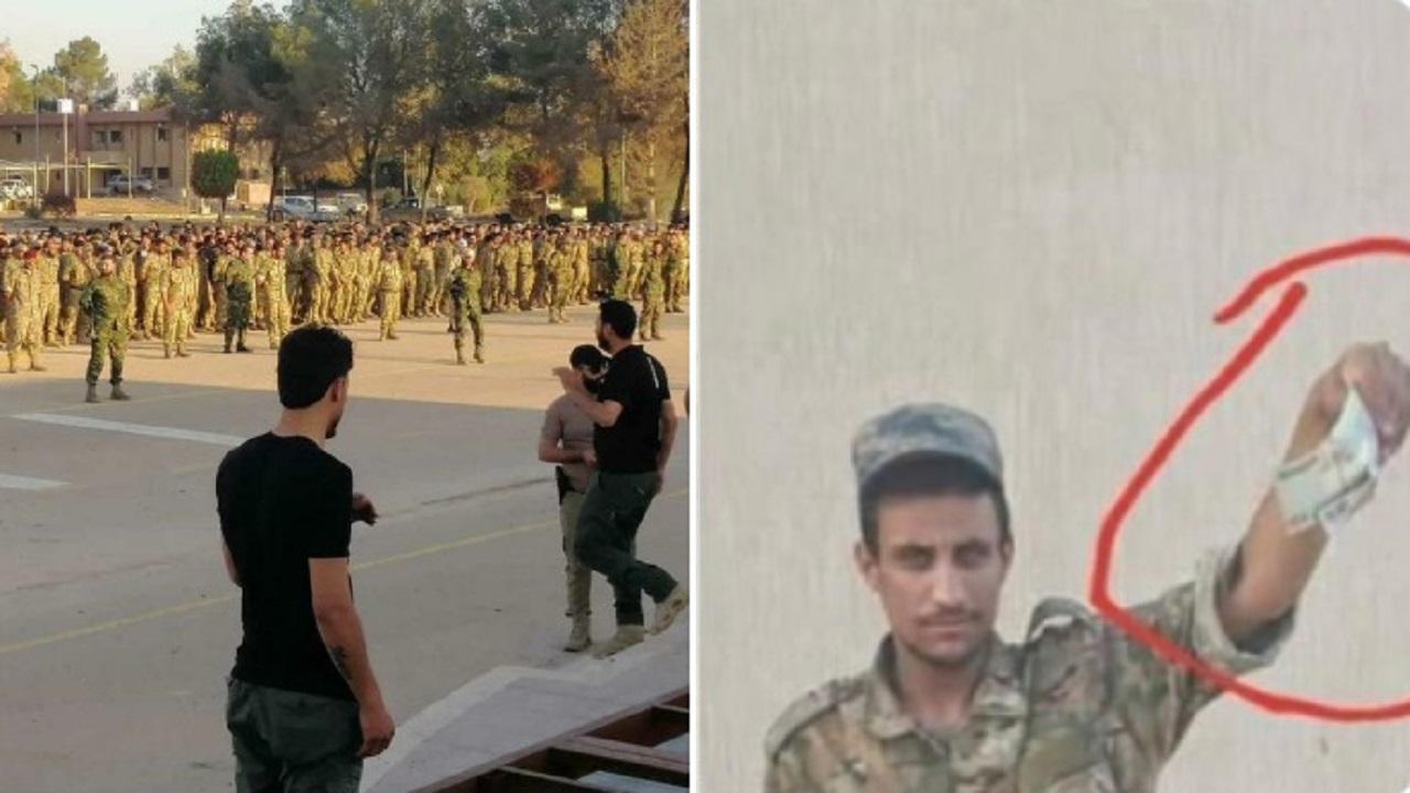 صور للمرتزقة السوريين في ليبيا يصطفون للحصول على رواتبهم