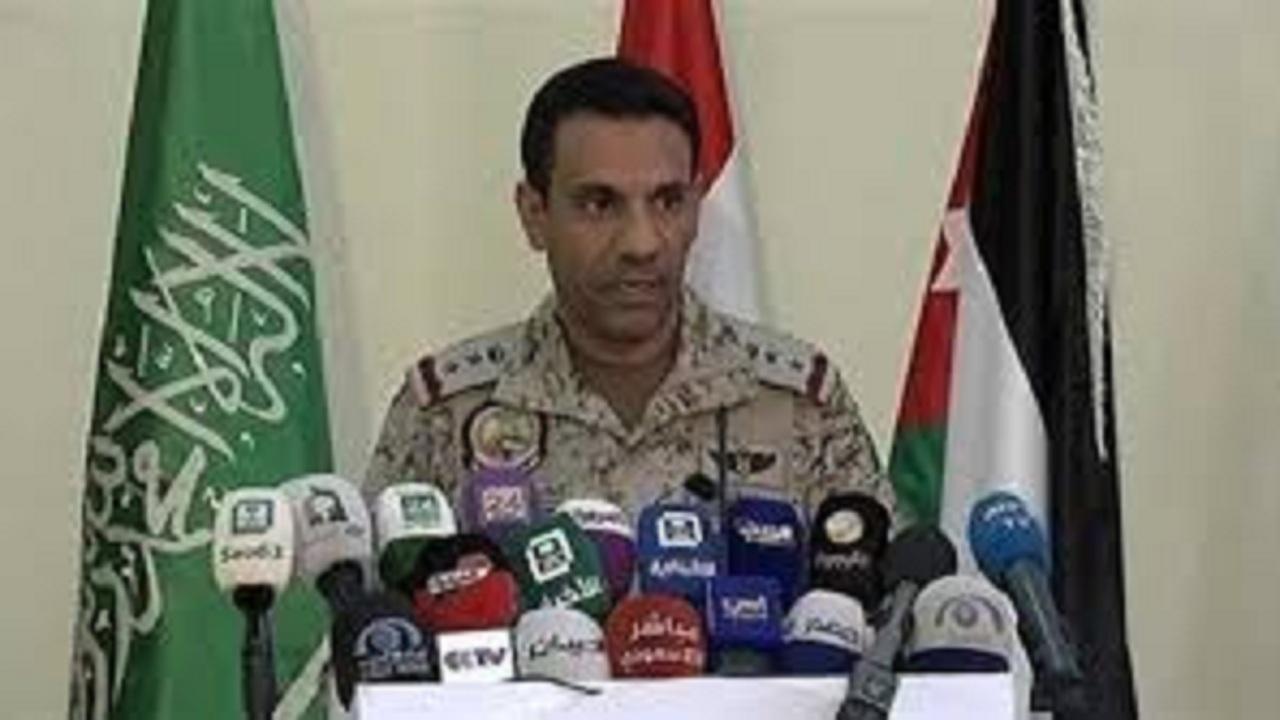 التحالف: الحوثي يستمر في انتهاك القانون الدولي بإطلاق باليستيًا على المدنيين