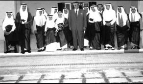 بالصور.. أبناء الملك سعود في حفل شاي للرئيس المصري جمال عبدالناصر