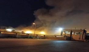 حريق ضخم بمطار مصراتة الدولي بليبيا