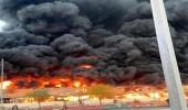 سبب كثافة النيران في حريق سوق عجمان بالإمارات