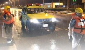 إنقاذ وإجلاء 116 شخصًا و13 أسرة بسبب الحالة المطرية في عدة مناطق