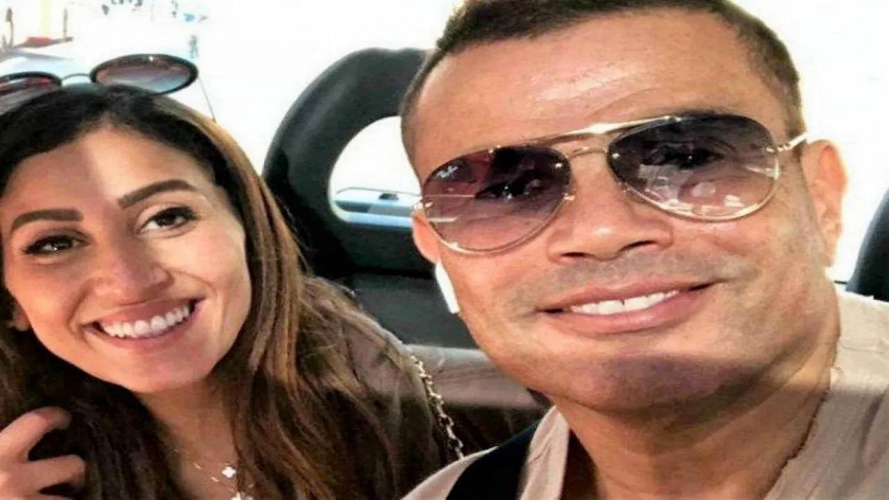 """زوجة عمرو دياب تظهر ببنطلون """" شفاف """""""