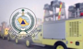 الدفاع المدني يخمد حريقا في محال للخيام و بيوت الشعر بالرياض