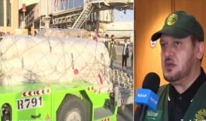 بالفيديو.. وصول أول طائرة سعودية للبنان والكشف عن آلية توزيع المساعدات