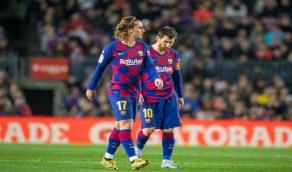 برشلونة مهدد بفقدان ميسي وغريزمان حال التأهل لربع نهائي دوري الأبطال
