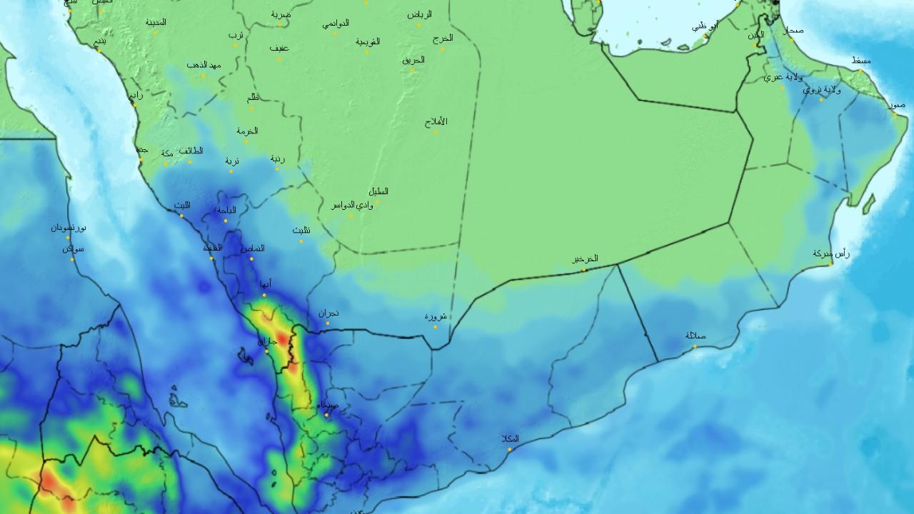 «الحصيني» : أمطار ورياح على معظم المناطق