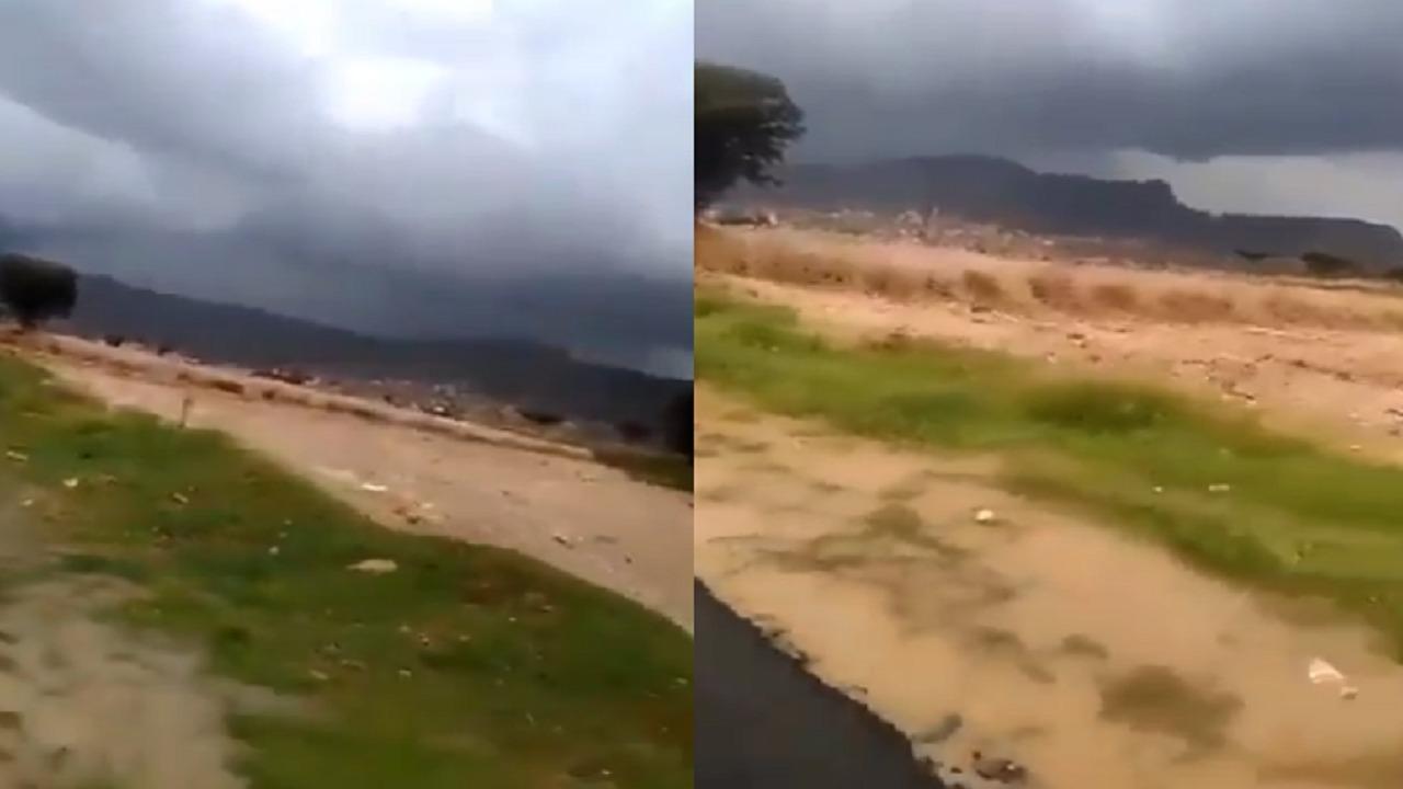 بالفيديو.. سرعة اندفاع السيول بعد انفجار سد الرونة باليمن