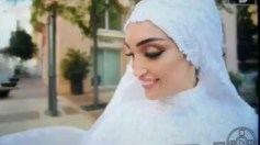 عروس بيروت تتحدى الدمار وتلتقط صور مع عريسها بعد الإنفجار