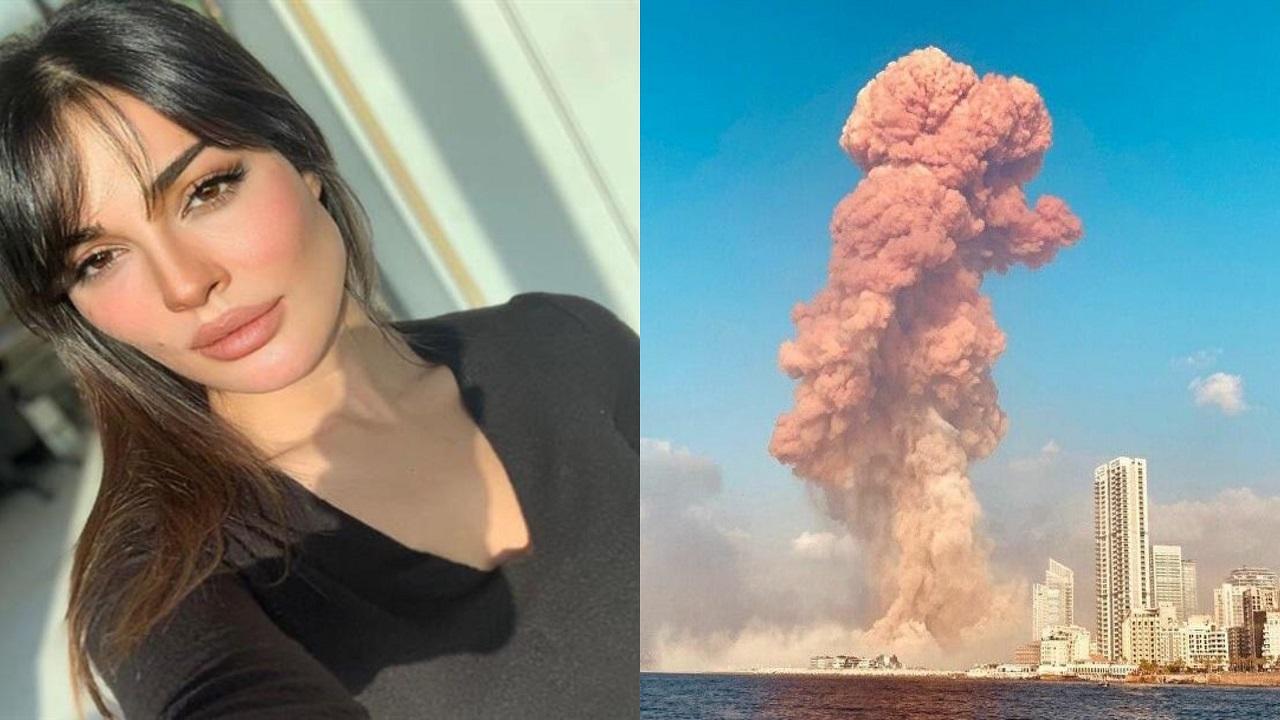 فيديو مروع للحظة إصابة نادين نجيم في انفجار بيروت