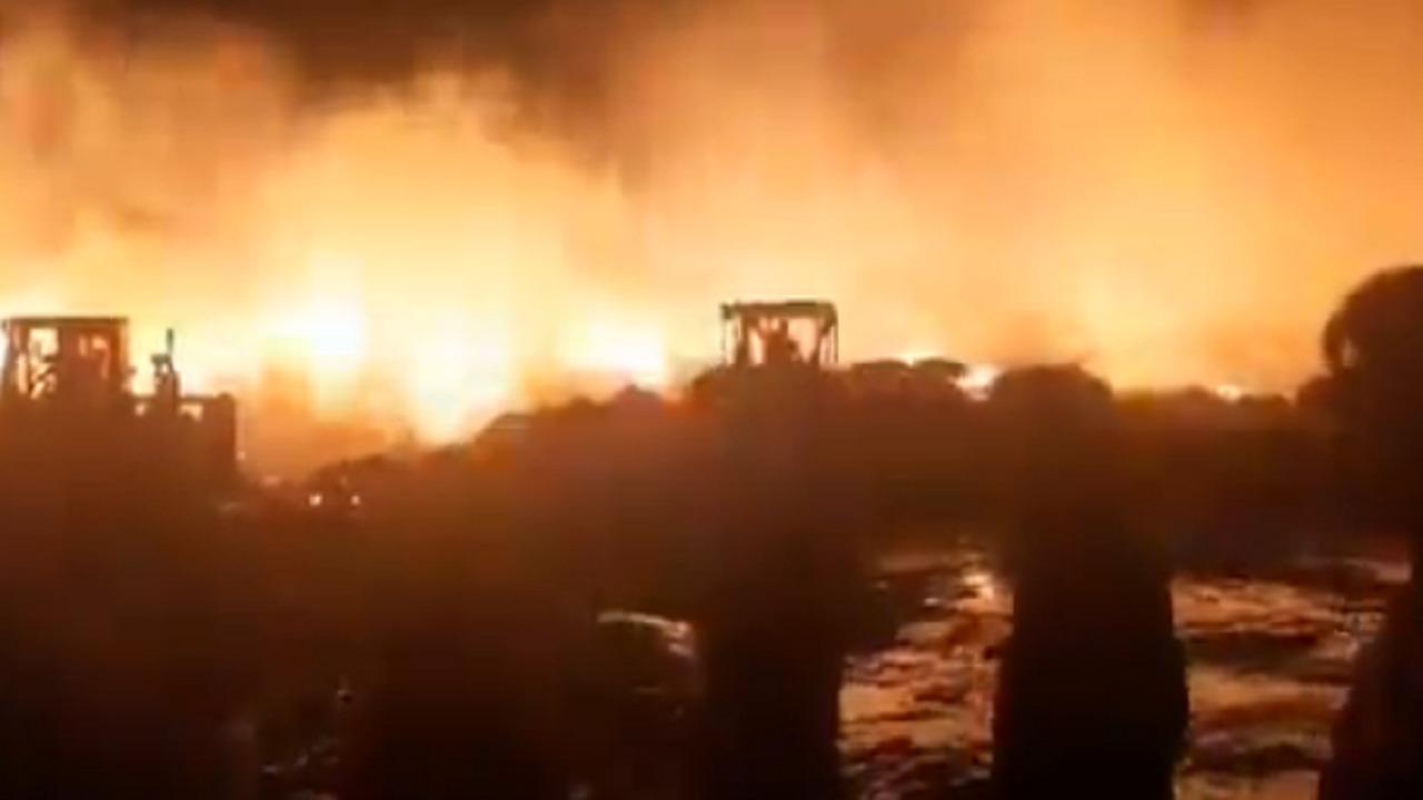 بالفيديو.. سلسلة حرائق إيران تطال معمل في طهران