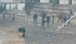 بالفيديو.. مسلحون بلباس مدني بين الجيش اللبناني يطلقون الرصاص على المتظاهرين