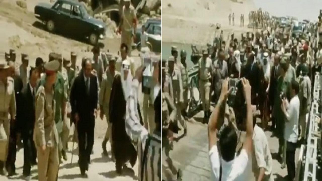 فيديو نادر للملك فيصل والرئيس السادات على خط بارليف بسيناء عام 1974 م