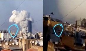 بالفيديو.. جسم غريب يسقط من سماء بيروت قبل الانفجار المدمر