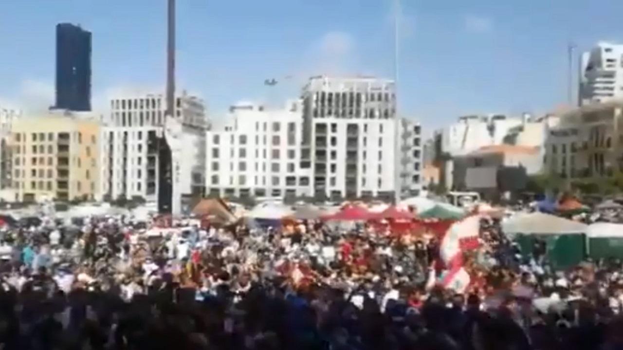 شاهد.. لبنانيون ينتفضون ضد الإرهاب: «حزب الله إرهابي»