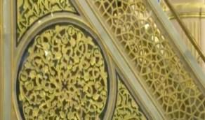 شاهد.. ترميم وتطوير للمنبر النبوي والمحراب في الحرم القديم بالمسجد النبوي