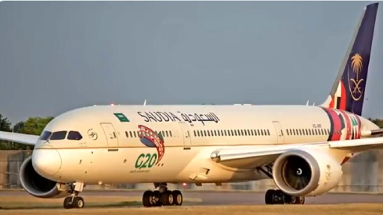 بالفيديو.. شعار مجموعة العشرين G20 يُزين طائرات الخطوط الجوية