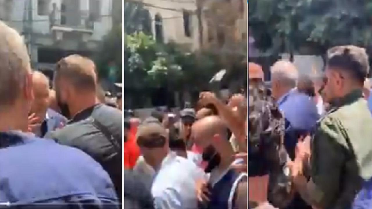 بالفيديو.. طرد محافظ بيروت من حي الجميزة