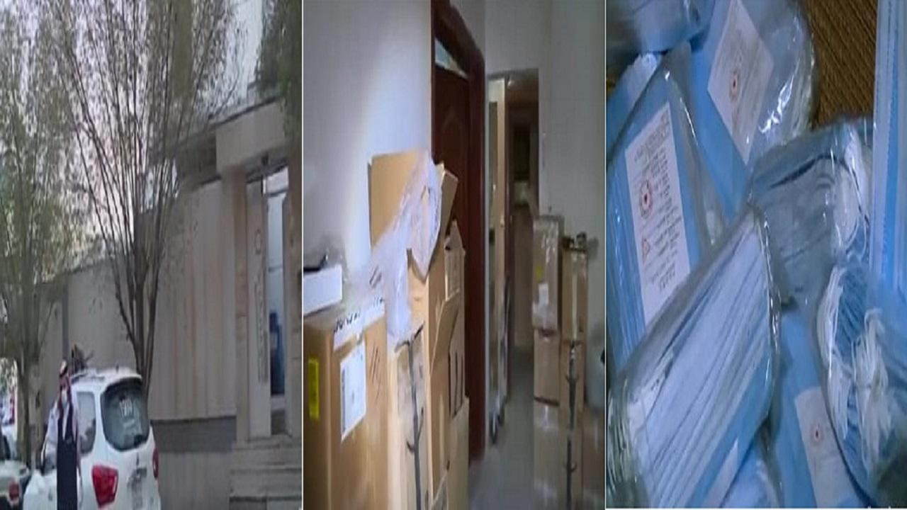 بالفيديو.. لحظة الإطاحة بعمالة مخالفة استغلت فيلا سكنية لتخزين الكمامات والأدوية المغشوشة