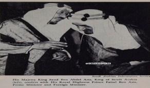 صورة عمرها أكثر من 50 عاما للملك سعود وأخيه الأمير فيصل