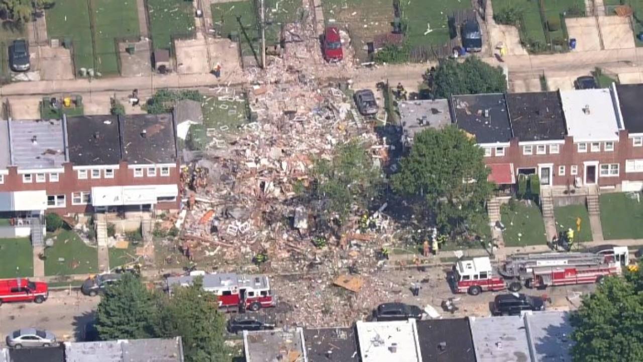 بالفيديو.. انفجار قوي يهدم منازل في مدينة بالتيمور الأمريكية