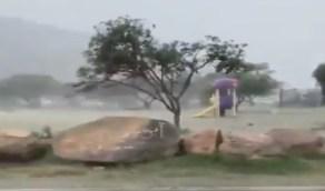 بالفيديو.. أمطار وبرد في متنزه الأمير سلطان جنوب أبها