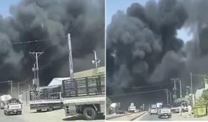 بالفيديو.. اندلاع حريق ضخم شرق الرياض