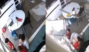 بالفيديو.. مُربية تحتمي بالأطفال أثناء انفجار مرفأ بيروت