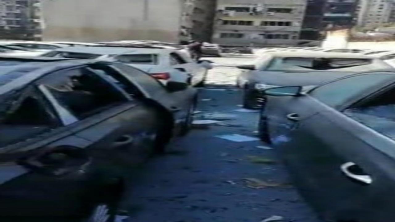 شاهد.. انفجار بيروت يتسبب في تدميرأكثر من 500 سيارة فخمة