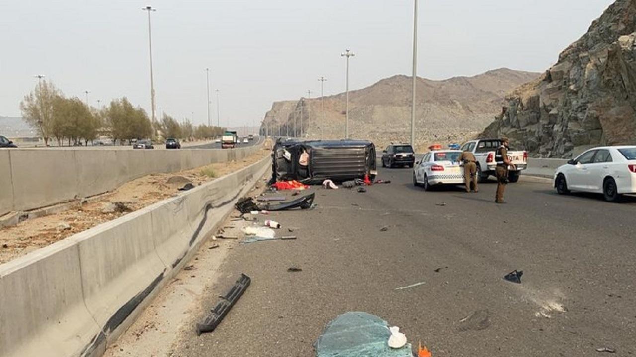 """مصرع وإصابة 5 أشخاص في حادث مروع على طريق """"مكة – جدة """" السريع"""