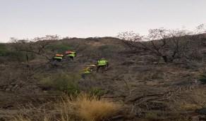 مدني ميسان بالطائف ينهي عمليات تتبع بقايا حريق جبل عُمد