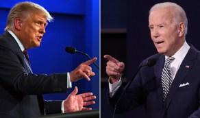 """"""" جرو """" و """" كاذب """" أبرز الكلمات الجارحة بين ترامب وبايدن في المناظرة"""