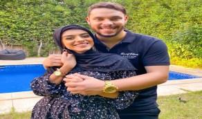 شاهد.. أول ظهور لأحمد حسن وزوجته ترتدي الحجاب