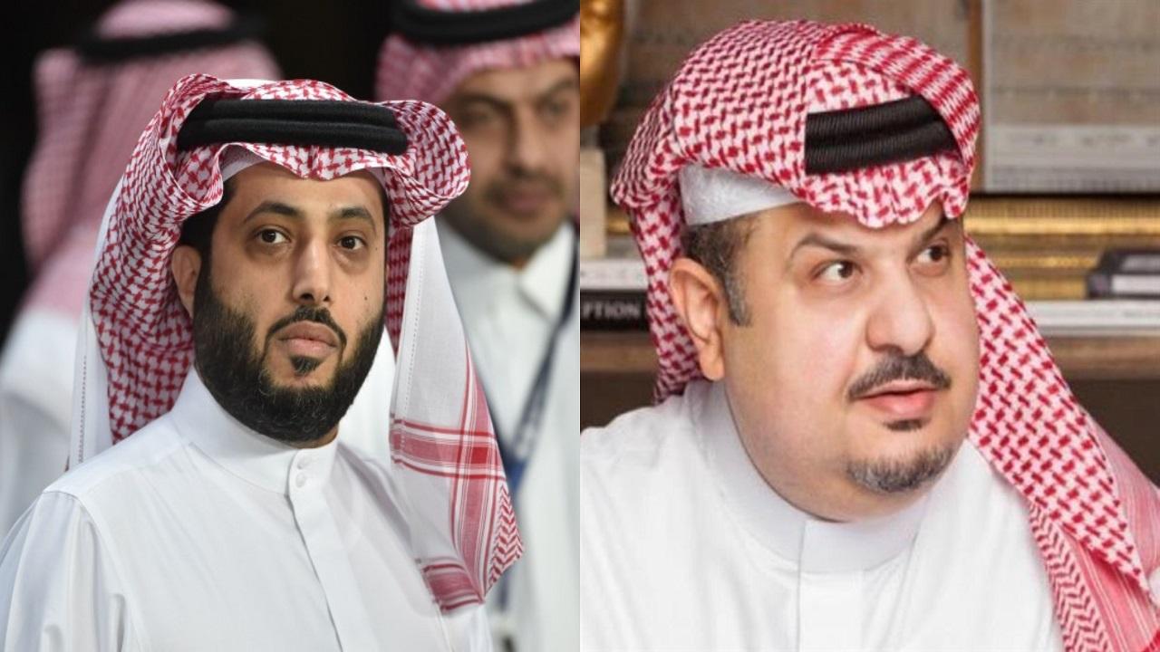 ابن مساعد ينتقد تقريرًا لـ MBC قدم اسم تركي آل الشيخ قبل اسمه