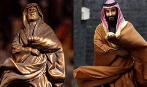 """مواطن يبدع في النحت: """" حركة بشت ولي العهد سبب إنطلاقتي """""""