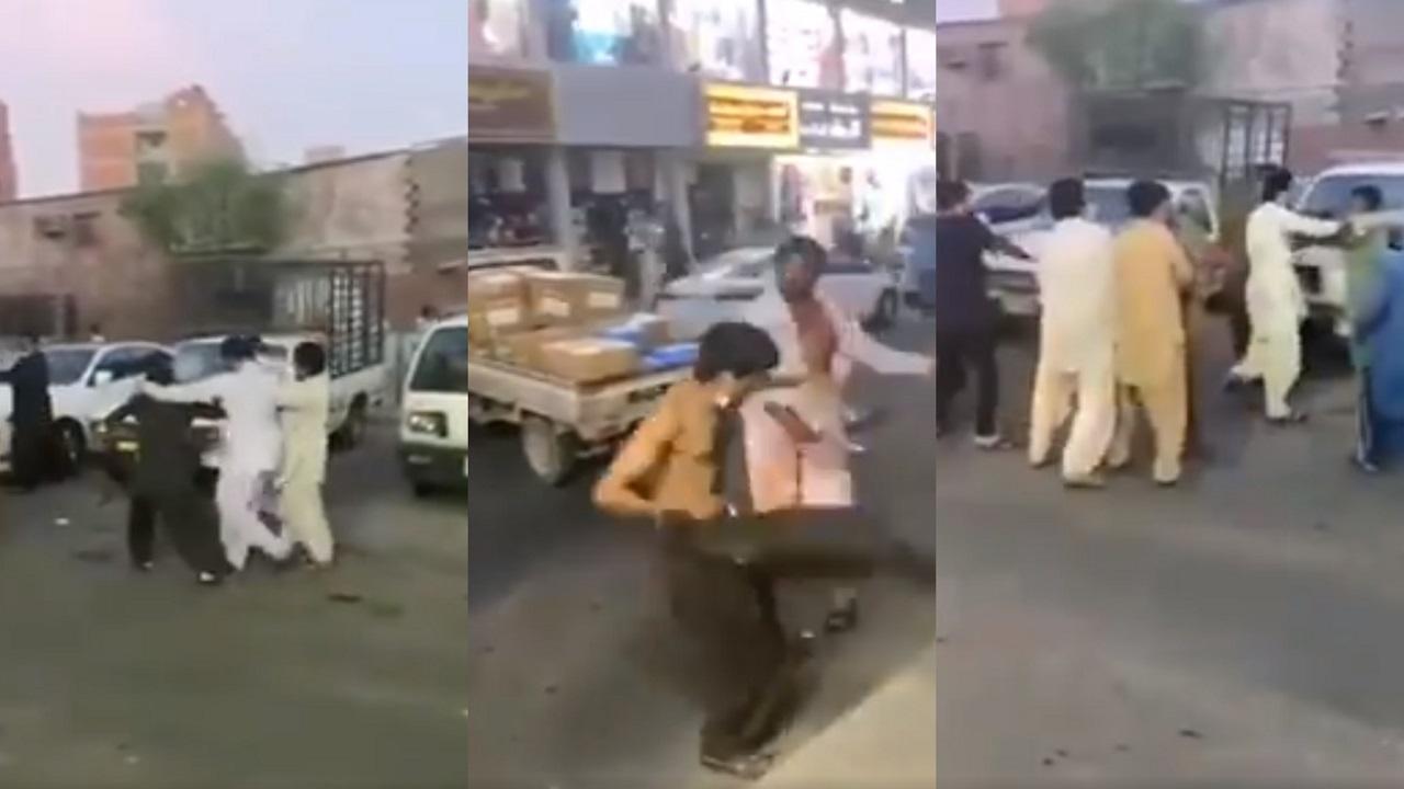 بالفيديو.. مضاربة بالعصى بين وافدين باكستانيين في جدة